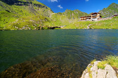 Balea Lake in Fagaras Mountains Royalty Free Stock Image