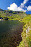 Balea Lake in Fagaras Mountains Stock Photography