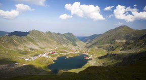 Balea Lake, Fagaras Mountains, Romania Stock Photo