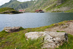 Balea lake the glacial lake from Romania Stock Images
