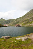 Balea lake the glacial lake from Romania Royalty Free Stock Photo