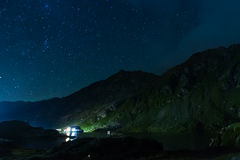 Balea lake by night, Romania Stock Image