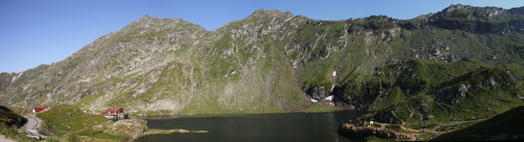 Balea lake panorama Royalty Free Stock Photo
