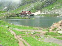Balea Lake. Picture taken at Balea Lake Stock Photography