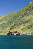 Balea Lake, Romania royalty free stock photography