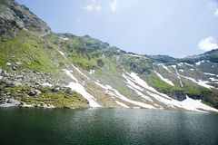 Balea Lake in Romania Stock Images