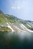 Balea Lake in Romania Royalty Free Stock Photo