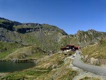 Balea Lake in Romania stock photography