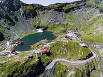Balea Lake on Transfagarasan near Sibiu Romania Stock Images