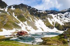 Balea Lake Transfagarasan Romania. Important tourist attraction stock photos