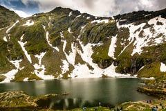 Balea lake, Transfagarasan, Romania. Balea Lake in summer, Transfagarasan, Romania royalty free stock image