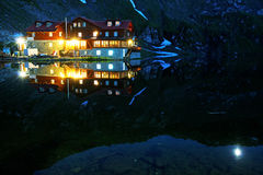 Balea Lake, Transylvanian Alps Royalty Free Stock Photography