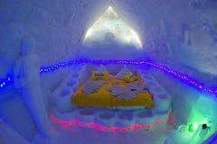 BALEA-MEER - 18 FEBRUARI 2018 - HET IJShotel Royalty-vrije Stock Afbeelding