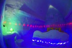 BALEA-MEER - 18 FEBRUARI 2018 - HET IJShotel Royalty-vrije Stock Foto