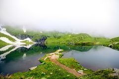 Balea mountain lake Stock Photos