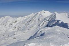 Balea ski resort in transylvania romania. Balea freeride ski resort in transylvania romania viewed from mountain ridge Stock Image