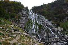 Balea waterfall. Trip in Fagaras Mountains, in september Royalty Free Stock Image