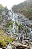 Balea waterfall. View of Balea waterfall at the foot of her royalty free stock photo