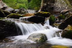 Balea waterfall 4. Trip in Fagaras Mountains, in september Royalty Free Stock Photos