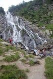 Balea Waterfall in the Carphatians Royalty Free Stock Photo