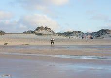 Baleal海滩在一个夏日结束时在Peniche,葡萄牙 图库摄影