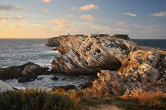 Baleal, Peniche, Portugal. Rocks in Baleal next to Peniche in Portugal stock photography