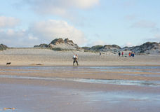 Baleal plaża przy końcówką letni dzień w Peniche, Portugalia Fotografia Stock