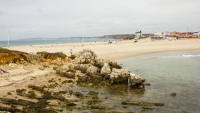 Baleal, Portugal, one isthmus, two beaches Stock Photo