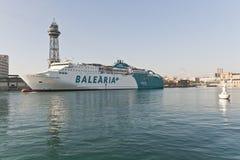 Balearia Reiseflug Stockfoto