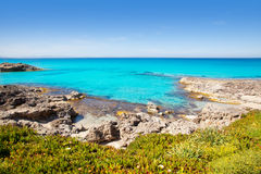 Balearic Formentera island in Escalo beach Royalty Free Stock Photography
