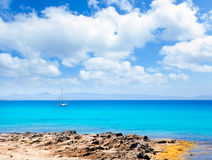 Balearic Formentera island in Escalo beach Royalty Free Stock Image