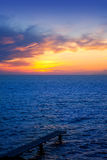 Balearic Formentera island sunset in Mediterranean Stock Images