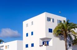 Balearic Formentera island white houses Stock Photo