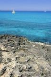 balearic formentera medelhavs- turkos arkivfoto