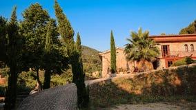Balearic islands Mediterranean architecture of Majorca, Finca Stock Photos