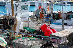 Balearic islands professional fisher boats Royalty Free Stock Image