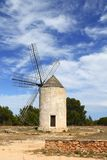 Balearic islands windmill wind mills Spain Stock Photo