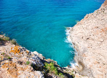 Balearic Mediterranean sea high view from Barbaria Stock Photography