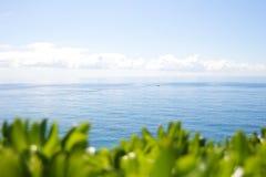 Balearisches Meer, wie von Santa Clotilde Gardens in Lloret de Mar, Spanien gesehen lizenzfreies stockbild