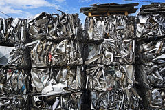 Baled Scrap Metal Stock Photography