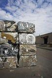 Baled Scrap Metal Stock Photo