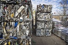 Baled Scrap Metal Royalty Free Stock Photos