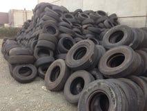 Baled Tyres Stock Photo