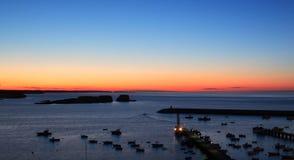baleeira捕鱼港口葡萄牙sagres 库存照片