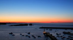 Baleeira Fischereihafen, Sagres, Portugal Stockfotos