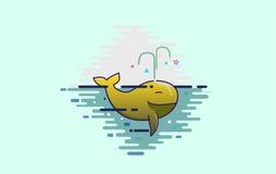 Baleia amarela bonito Fotos de Stock Royalty Free