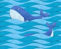 Baleia azul no mar Imagem de Stock