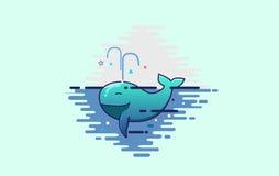 Baleia bonito Imagem de Stock Royalty Free