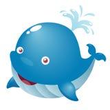 Baleia bonito dos desenhos animados Foto de Stock Royalty Free