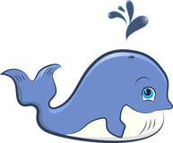 Baleia bonito dos desenhos animados Fotografia de Stock Royalty Free